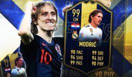В FIFA 19 вышла карточка Модрича и она сильнейшая в истории игры